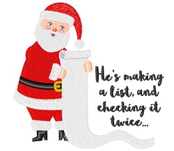 Making A List embroidery design