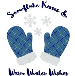 Snowflake Kisses embroidery design