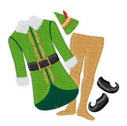 Elf Costume embroidery design