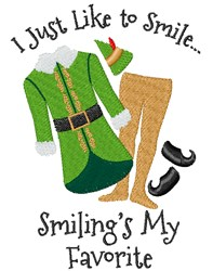 I Like To Smile embroidery design