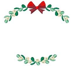 Holiday Mistletoe embroidery design