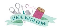 Made With Care embroidery design