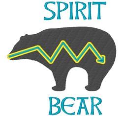Spirit Bear embroidery design