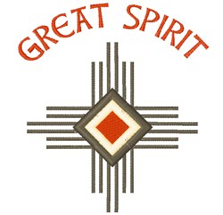 Great Spirit embroidery design
