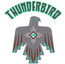 Thunderbird embroidery design