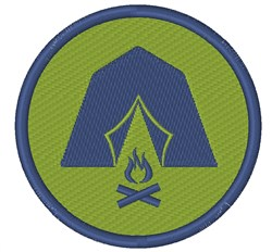 Camping Badge embroidery design