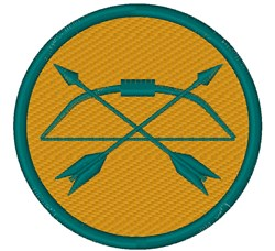 Archery Badge embroidery design