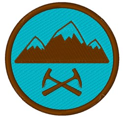 Mountaineering Badge embroidery design