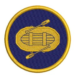 River Rafting Badge embroidery design