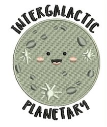 Intergalactic Planetary embroidery design