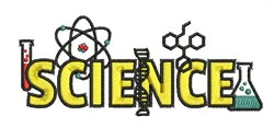 Science School embroidery design