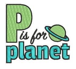 P Is For Planet embroidery design