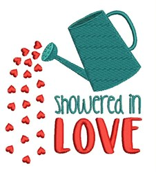 Showered In Love embroidery design