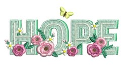 Hope Flowers embroidery design