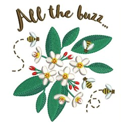 All The Buzz embroidery design