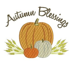 Autumn Blessings embroidery design