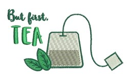 But First Tea embroidery design