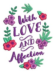 Love And Affection embroidery design