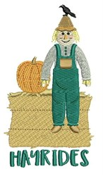 Hay Rides embroidery design