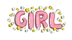 Baby Girl Confetti embroidery design