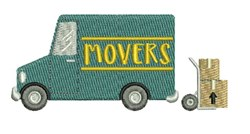 Movers Truck embroidery design