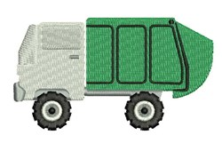 Garbage Truck embroidery design