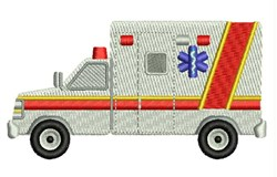 Emergency Ambulance embroidery design