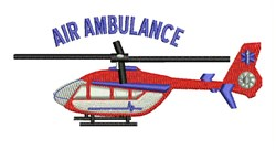 Air Ambulance embroidery design