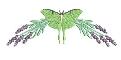 Luna Moth embroidery design