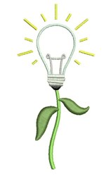 Light Bulb Plant embroidery design
