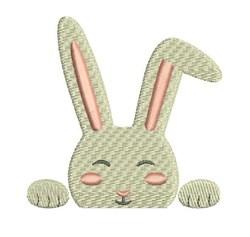 Bunny Pocket Topper embroidery design