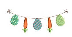 Easter Banner embroidery design