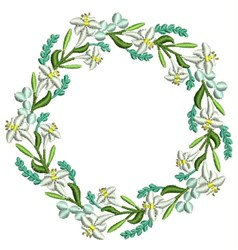 Easter Lily Wreath embroidery design