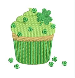 St. Patricks Day Cupcake embroidery design