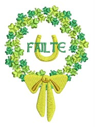 Failte Wreath embroidery design