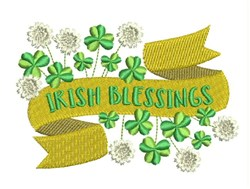 Irish Blessings Banner embroidery design