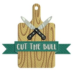 Cut The Bull embroidery design