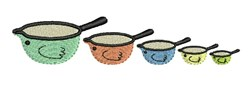 Measuring Cups embroidery design