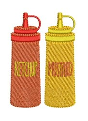Ketchup & Mustard embroidery design