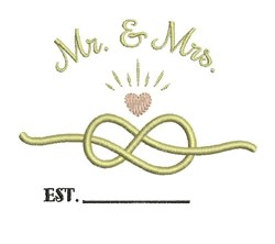 Mr & Mrs Knot embroidery design