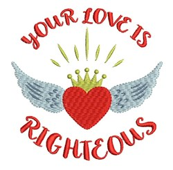 Love Is Righteous embroidery design