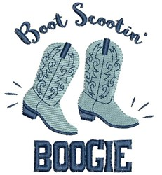 Boot Scootin Boogie embroidery design
