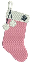 Dog Stocking embroidery design