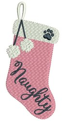 Naughty Stocking embroidery design