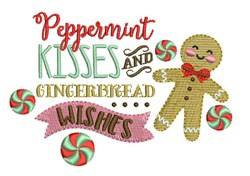 Peppermint Kisses embroidery design