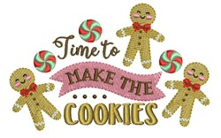Make Cookies embroidery design