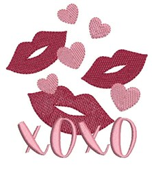 Valentine Kisses embroidery design