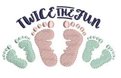 Twice The Fun embroidery design