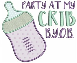 Party At My Crib embroidery design