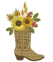 Boot With Flowers embroidery design